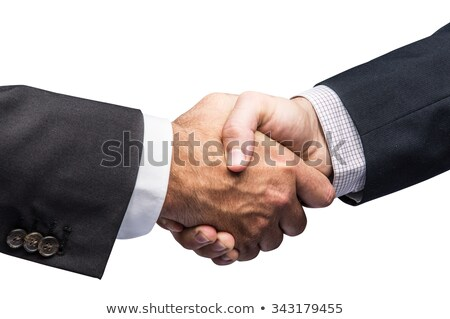 business people shaking hands isolated contains clipping path stock photo © kirill_m