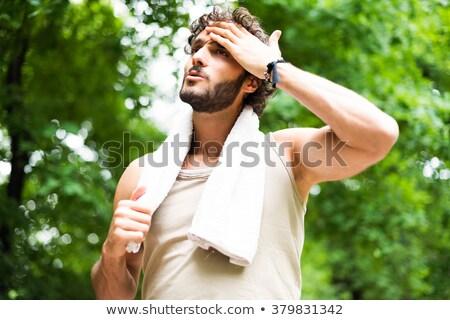 yorgun · erkek · koşucu · eğitim · uygunluk - stok fotoğraf © hasloo