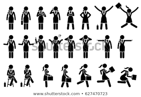 woman jumping on a chair Stock photo © ambro