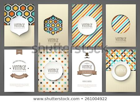 Vintage plantilla de diseño papel resumen diseno fondo Foto stock © sdmix