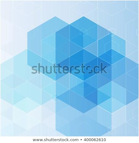Résumé bleu design noir lumière peinture Photo stock © Iscatel