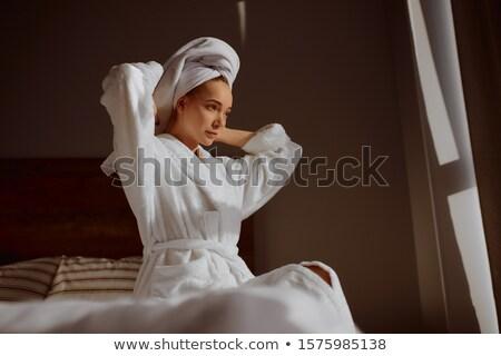 spa · güzellik · kadın · altında · duş · banyo - stok fotoğraf © lordalea