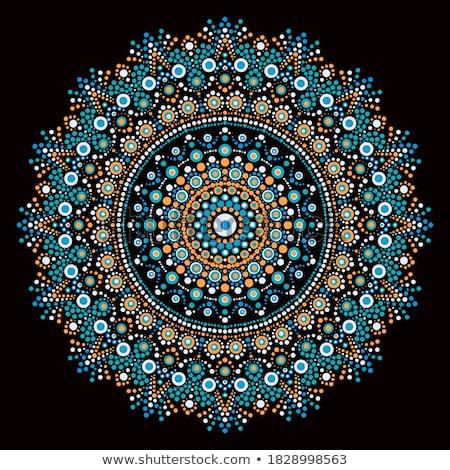 motívumok · virág · fű · terv · háttér · sziluett - stock fotó © morrmota