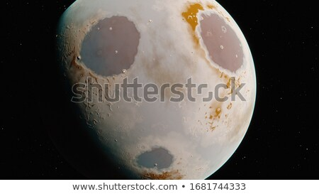 Emoticon planeta 3d render olho triste preto Foto stock © mariephoto