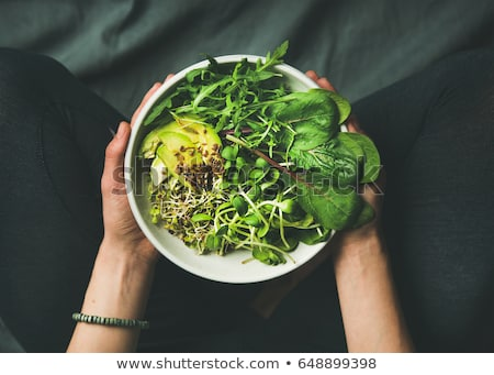 salad greens food background Stock photo © zkruger