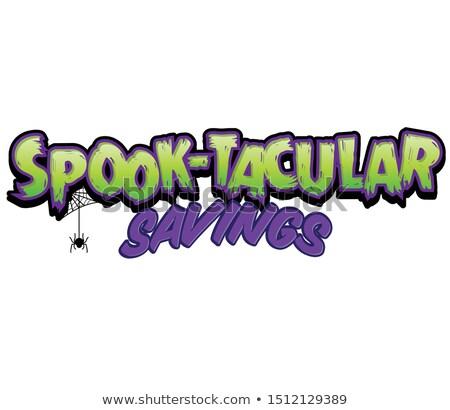 Halloween manchete truque crianças futebol amigos Foto stock © brittenham