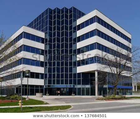 voorstads- · kantoorgebouw · laag · algemeen · namaak · pleisterwerk - stockfoto © blamb