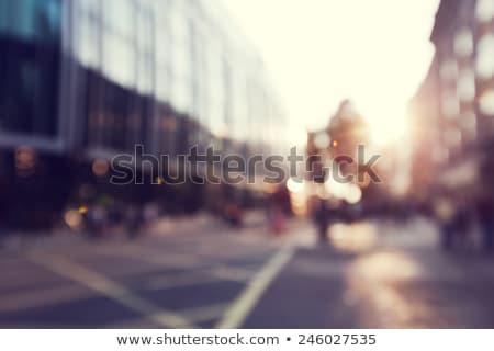 urbanas · azul · estilo · ciudad · avión · edificios - foto stock © oblachko