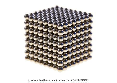 Cubo magnético cuentas resumen metal grupo Foto stock © pixelman