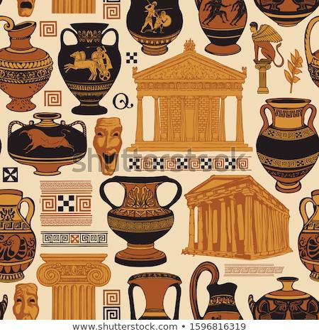 Vektor · alten · griechisch · Architektur · Spalten · Gebäude - stock foto © bunyakina_nady