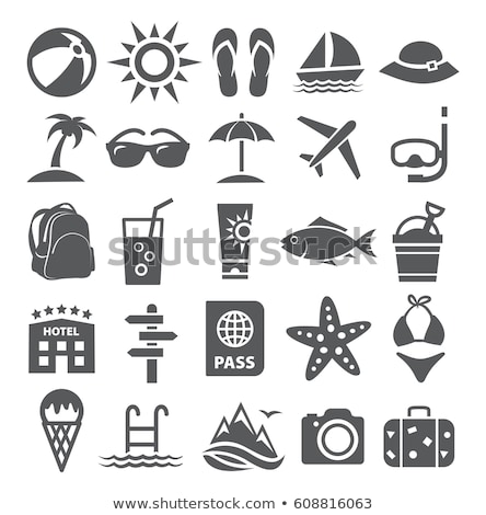 Vector graphic icon set of summer and holiday Stock photo © feabornset