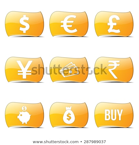 Currency Sign Yellow Vector ButtonIcon Design Set Stock photo © rizwanali3d
