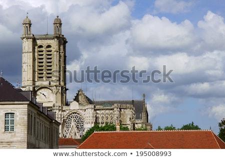 大聖堂 フランス 曇った 空 ゴシック サイト ストックフォト © aladin66
