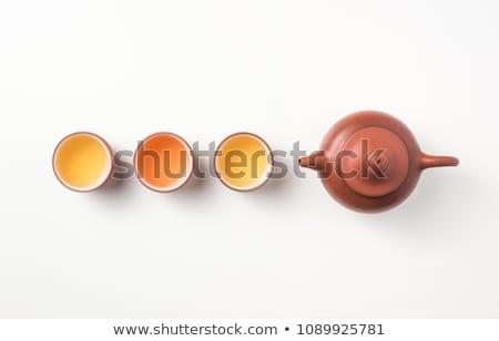 kínai · tea · étel · üveg · zöld · gyógyszer - stock fotó © vlaru