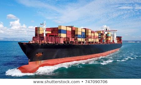 морем стилизованный морской транспорт логистика океана Сток-фото © tracer