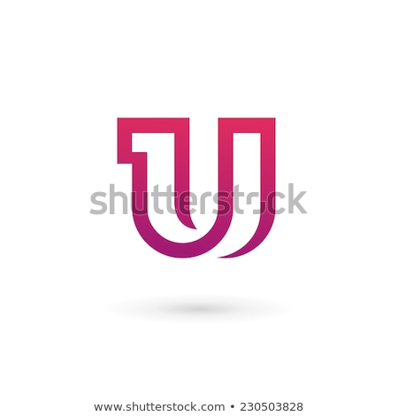 Stock photo: letter u icon vector logo design