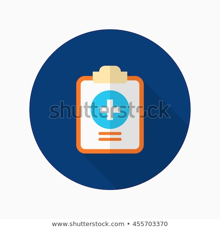 Medical Records Icon. Flat Design. Long Shadow. Stock photo © WaD