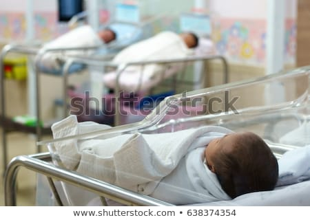 Family in the maternity hospital with newborn Stock photo © d13
