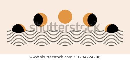 abstract illustration of moon stock photo © adrenalina