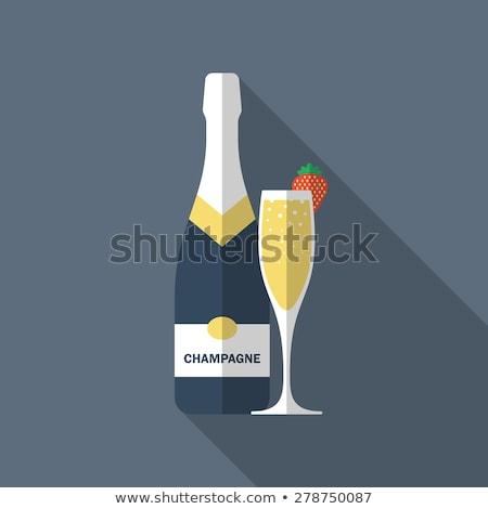 drinken · champagne · teken · christmas · partij · icon - stockfoto © anna_leni