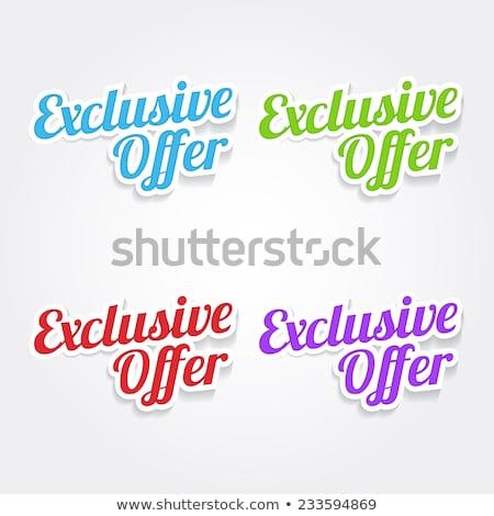Exkluzív ajánlat zöld vektor ikon terv Stock fotó © rizwanali3d