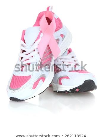 rosa · consciência · fita · sapatos · médico · corrida - foto stock © sognolucido