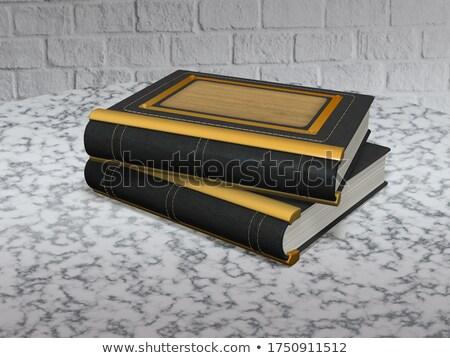 старой бумаги черный кожа кадр текстуры дизайна Сток-фото © alekleks