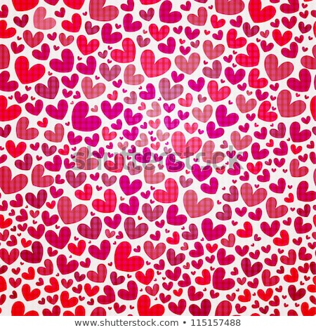 Stock photo: Wrapping paper Valentines Day. Heart shape seamless background