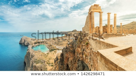 Landschap Griekenland zee oceaan Blauw reizen Stockfoto © deyangeorgiev