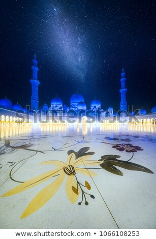 the starry sky and pillars Stock photo © OleksandrO