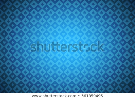 minimalistic blue poker background with texture composed from card symbols stock photo © liliwhite