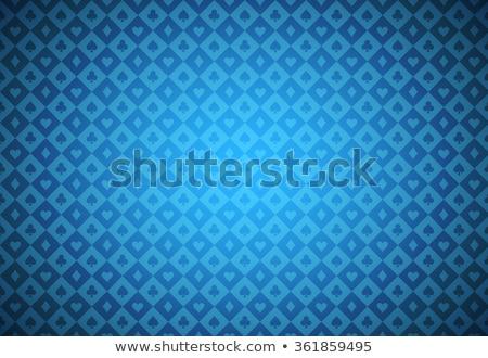 Azul pôquer textura cartão símbolos Foto stock © liliwhite