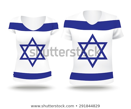 Israel t-shirt isolated on white Stock photo © shutswis