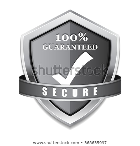 Protection 100 Percent Secure Silver Shield Vector Icon Design Stock photo © rizwanali3d