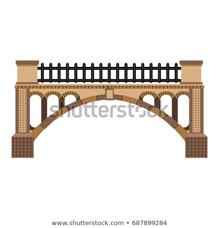 old arch bridge stock photo © steffus