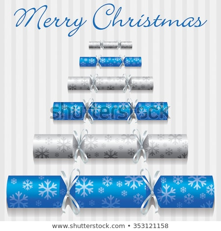 Merry Christmas snowflake cracker card in vector format. Stock photo © piccola