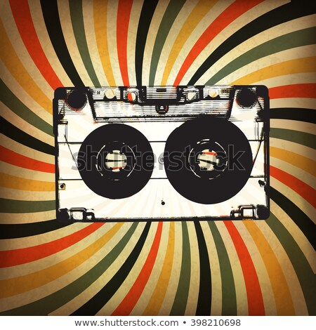 Musical grunge background with audiocassette. Stock photo © borysshevchuk