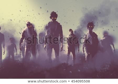 Zombie apokalipsa 3D krajobraz spaceru Zdjęcia stock © kjpargeter