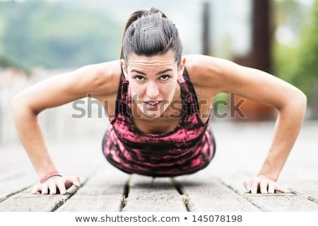 Twee fitness trainers glimlachend Stockfoto © blanaru