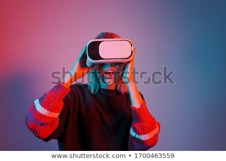 girl makes immersion stock photo © adrenalina