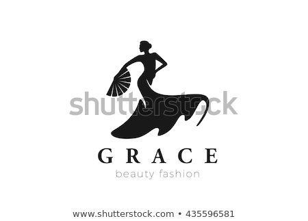 Woman dancing with fan isolated on white Stock photo © Elnur