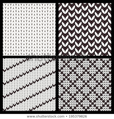 Collection of christmas knitting nordic pattern on black background. Stock photo © ElaK