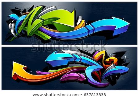 Graffiti muur textuur gebouw abstract bloed Stockfoto © alekup