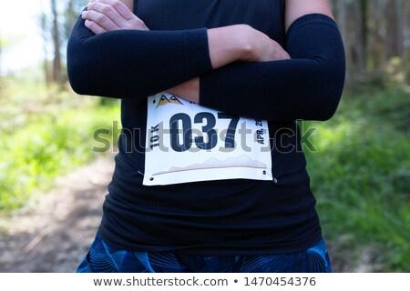 lopers · race · plek · illustratie - stockfoto © iconify