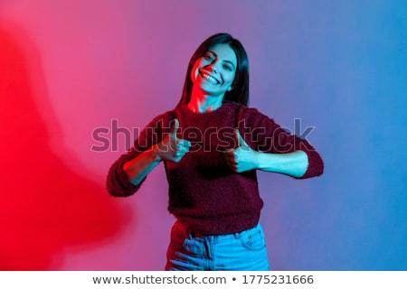 удвоится отлично молодые деловой женщины азиатских давать Сток-фото © elwynn
