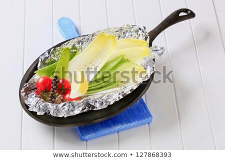 Fresh vegetables on tinfoil in skillet Stock photo © Digifoodstock