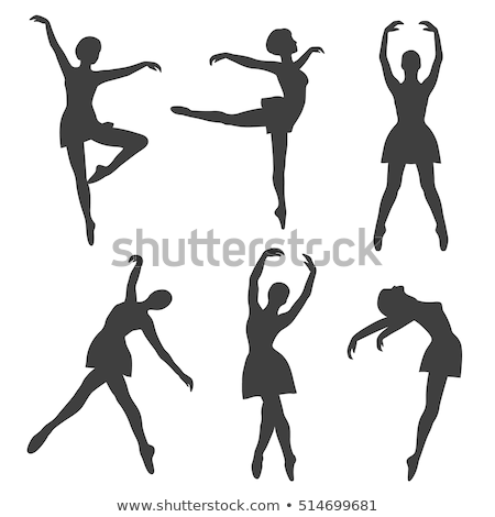 a simple drawing of the ballet dancers stock photo © bluering