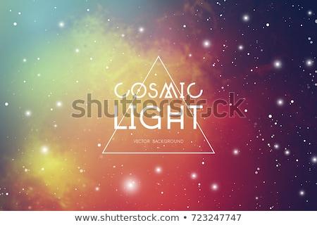 Foto d'archivio: Vettore · colorato · spazio · realistico · galassia