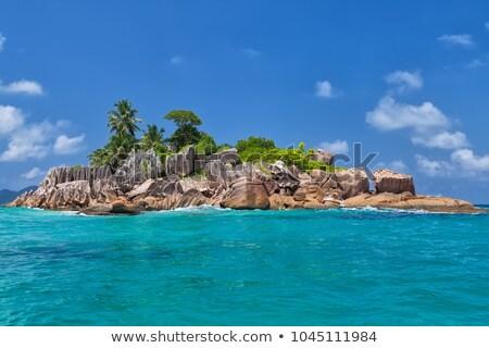 Granite coast at tropical island St. Pierre, Seychelles Stock photo © kb-photodesign