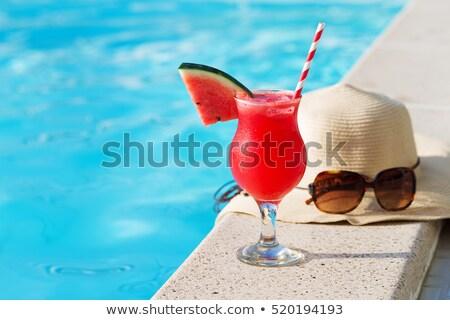 koktajl · mojito · lodu · cytryny · tropikalnej · plaży · plaży - zdjęcia stock © adrenalina